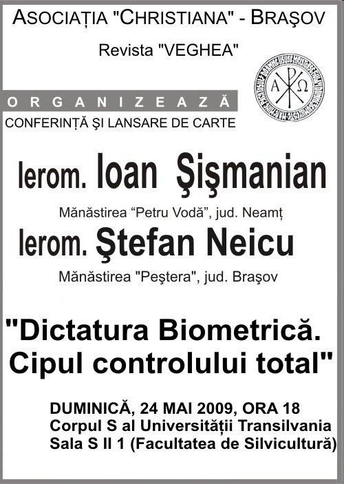 Conferinta Dictatura Biometrica Brasov