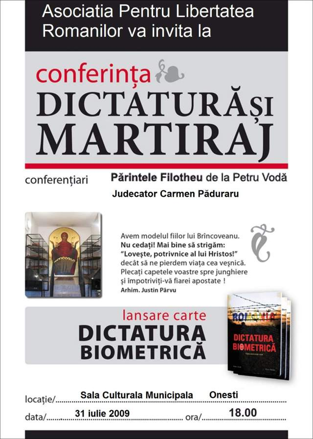 afis-lansare-ONESTI-dictatura-biometrica