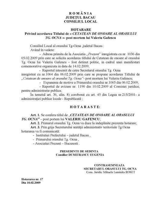 hotararea-consiliului-local-targu-ocna-pentru-acordarea-titlului-de-cetatean-de-onoare-lui-valeriu-gafencu