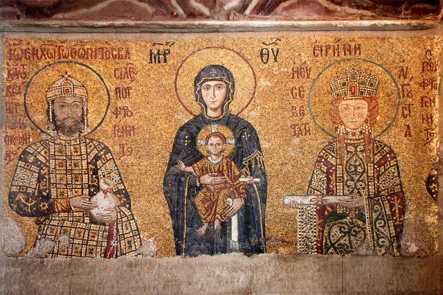 The_Theotokos_and_Child_with_John_II_and_Empress_Irene,_Hagia_Sophia,_Istanbul